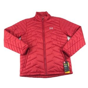 Under Armour Mens Reactor Red Puffer Jacket Size L